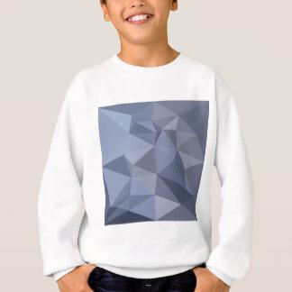 黒い珊瑚の青の抽象芸術の低い多角形の背景 スウェットシャツ