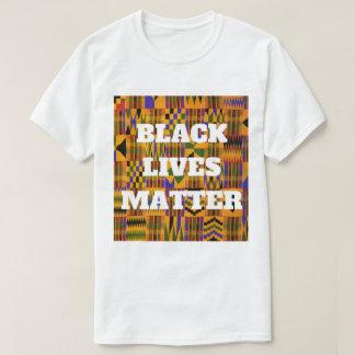 黒い生命問題のアフリカ人のKenteの布のプリント Tシャツ