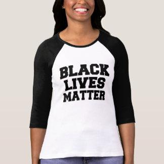 黒い生命問題の女性のワイシャツ Tシャツ
