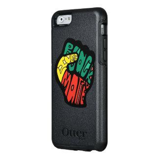 黒い生命問題の握りこぶしの箱 オッターボックスiPhone 6/6Sケース