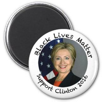 黒い生命問題-サポートヒラリー・クリントン-2016 マグネット