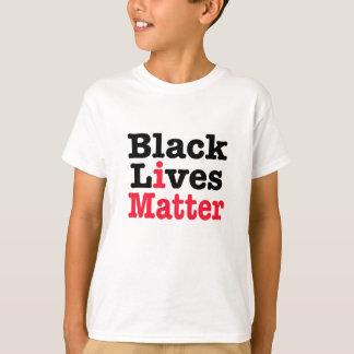 黒い生命問題 Tシャツ