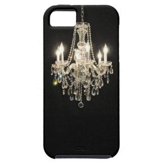 黒い眩ますヴィンテージのシャンデリアの白 iPhone SE/5/5s ケース