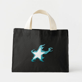 黒い石の射手の星 ミニトートバッグ