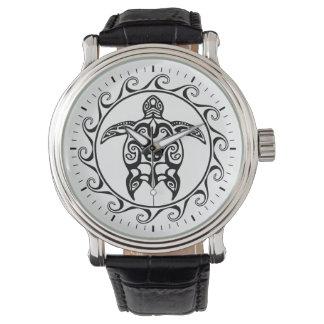 黒い種族のカメ 腕時計