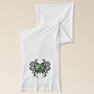 黒い種族の割れたブラジルの旗 スカーフ