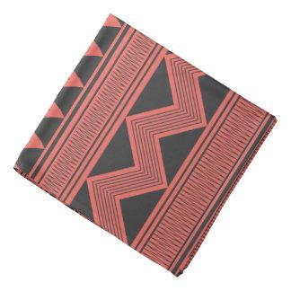 黒い種族の幾何学的なパターンバンダナ バンダナ