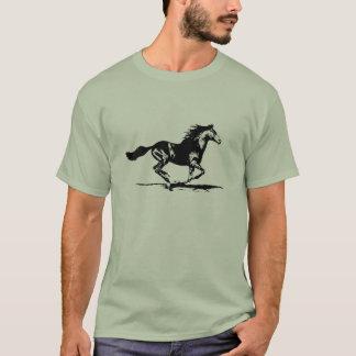 黒い種馬の馬のグラフィック Tシャツ