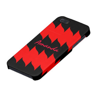 黒い精通したiPhone 5の箱の熱く赤い炎 iPhone 5 Case