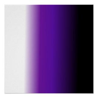 黒い紫色の白いグラデーション ポスター