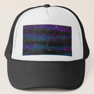 黒い紫色の青いグリッターの勾配のイメージ キャップ