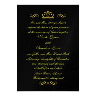 黒い結婚式招待状(黒)のおとぎ話 カード
