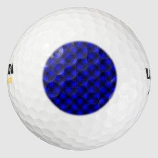 黒い網の白い球の雲紋(Tintable) ゴルフボール