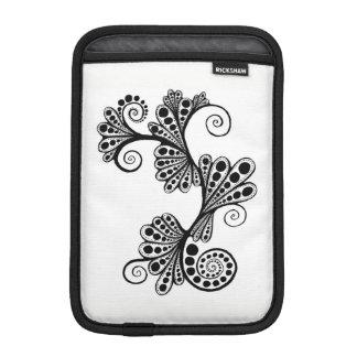 黒い美しい iPad MINIスリーブ