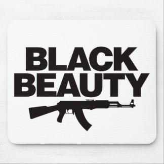 黒い美しいAK -黒 マウスパッド