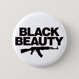 黒い美しいAK -黒 5.7CM 丸型バッジ
