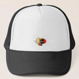 黒い羽の帽子 キャップ