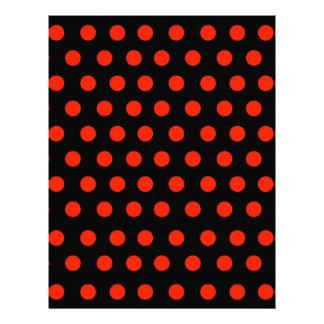 黒い背景が付いている赤い水玉模様 レターヘッド