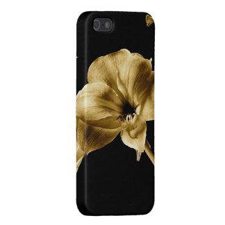 黒い背景とのセピア色のアマリリス iPhone 5 CASE