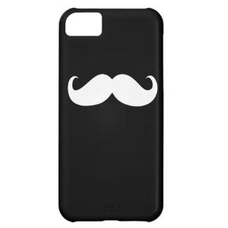 黒い背景のおもしろいで白い髭 iPhone5Cケース