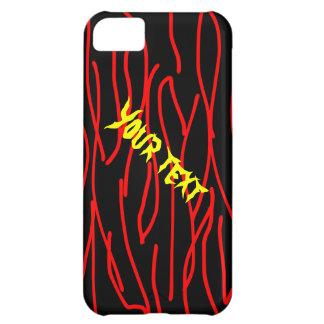 黒い背景のカスタムなiphone 5の場合の赤線 iPhone5Cケース