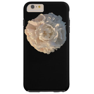 黒い背景のシャクヤク TOUGH iPhone 6 PLUS ケース