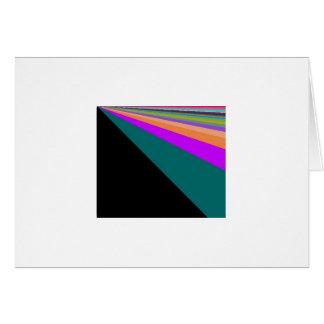 黒い背景のパステルの虹 カード