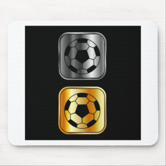 黒い背景のフットボール マウスパッド