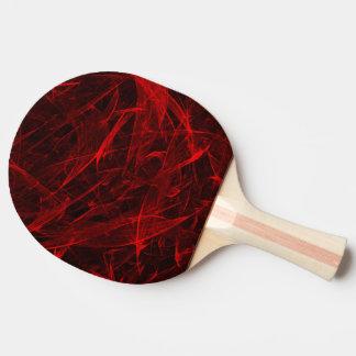 黒い背景のベクトル芸術の赤線 卓球ラケット