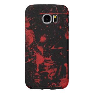 黒い背景のベクトル質感の赤い点 SAMSUNG GALAXY S6 ケース
