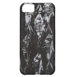 黒い背景の化石の白身魚 iPhone5Cケース