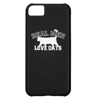 黒い背景の実質の人愛猫 iPhone5Cケース