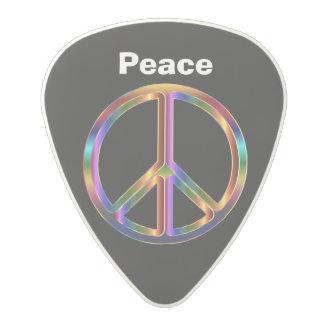 黒い背景の平和 ポリカーボネートギターピック