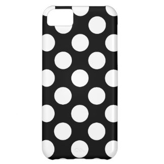 黒い背景の水玉模様 iPhone5Cケース