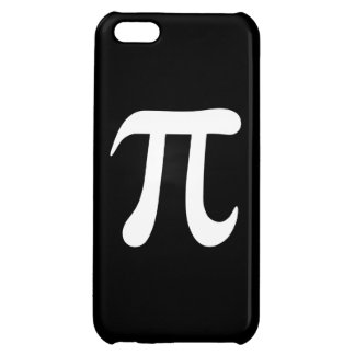 黒い背景の白いpiの記号 iPhone5Cカバー