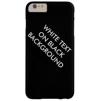 黒い背景の箱の白い文字 BARELY THERE iPhone 6 PLUS ケース