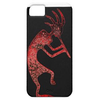 黒い背景の箱の赤いココペリ iPhone SE/5/5s ケース