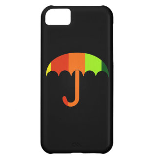 黒い背景の虹の傘 iPhone5Cケース