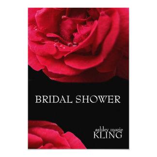 黒い背景の赤いバラ カード