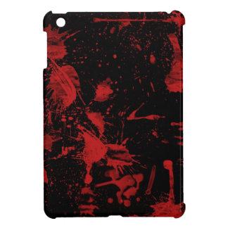 黒い背景の赤い点 iPad MINI カバー