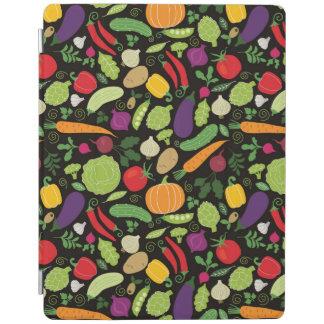 黒い背景の食糧 iPadスマートカバー