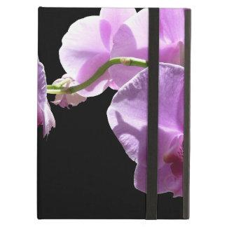 黒い背景の© P Wherrellのピンクの蘭 iPad Airケース