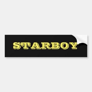 黒い背景のSTARBOYのカスタマイズ可能な文字 バンパーステッカー