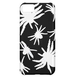 黒い背景を持つ白いくも iPhone5Cケース