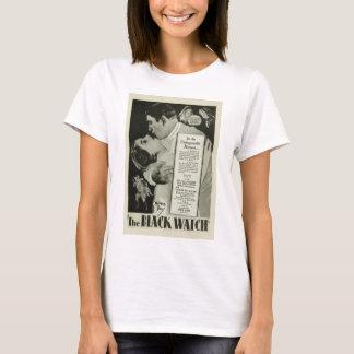 「黒い腕時計」の1929年のヴィンテージポスターTシャツ Tシャツ