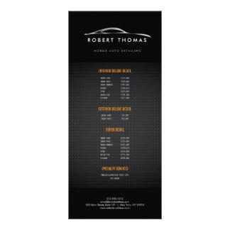 黒い自動詳述の自動車修理の棚カード ラックカード