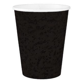 黒い自然なコルクの吠え声の一見木穀物 紙コップ