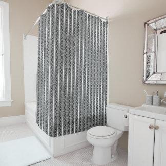 黒い花柄の罰金のレースの質のシャワー・カーテン シャワーカーテン
