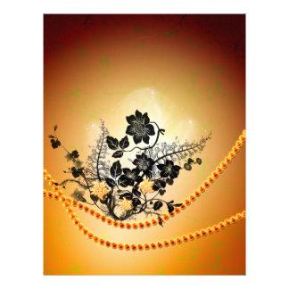 黒い花、シルエット レターヘッド