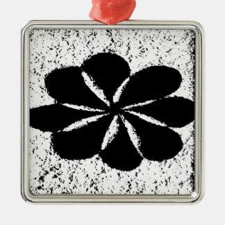黒い花 メタルオーナメント